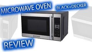 BLACK+DECKER 0.7 Cu Ft 700 Watt Microwave Oven Black EM720CPN P   REVIEW   My Video Games World