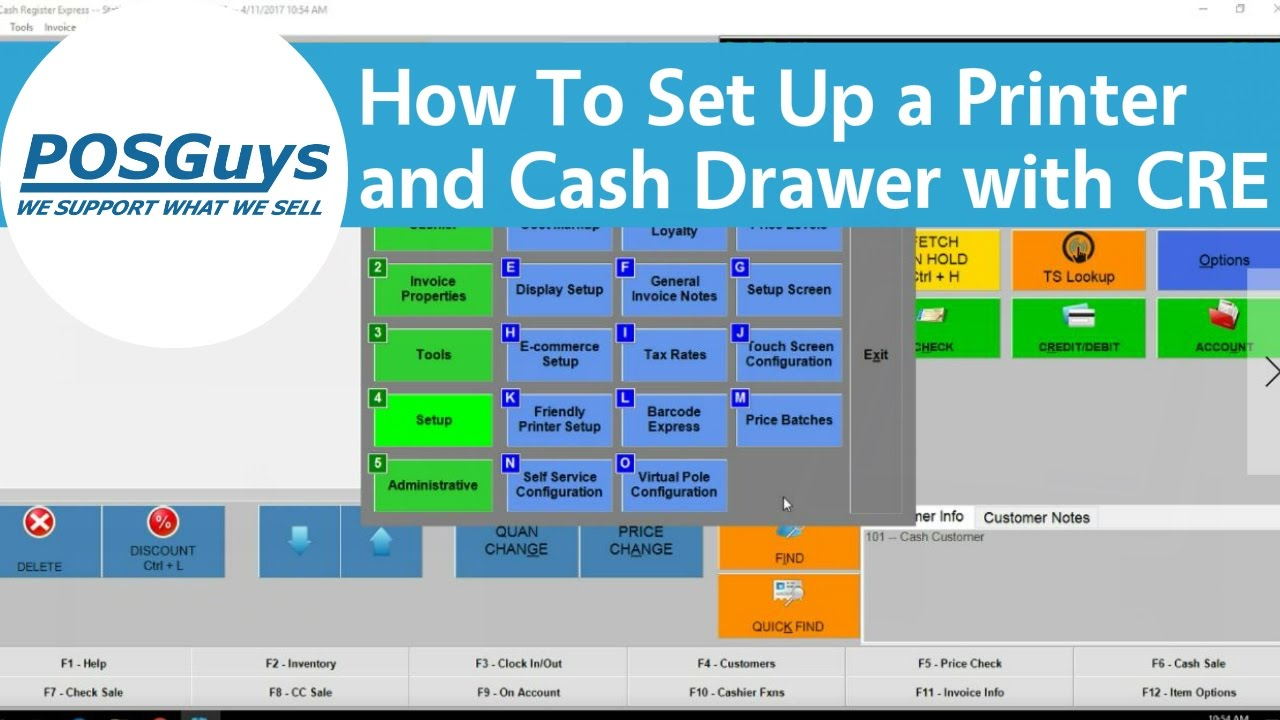 POSGuys How To: Set Up a Receipt Printer and Cash Drawer with CRE