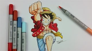 Drawing LUFFY from ONE PIECE | TolgArt