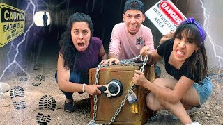 We found the Hacker's ABANDONED SAFE in a Secret Tunnel during a THUNDER STORM! (Hacker | Episode 2)
