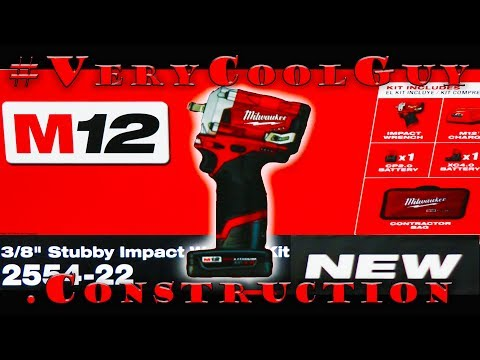 """New Milwaukee M12 Fuel (2554-22) 3/8"""" Stubby Impact Wrench Kit - UNBOXING!!"""