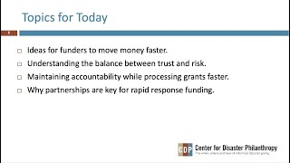 COVID-19: Making Effective Rapid Response Grants webinar