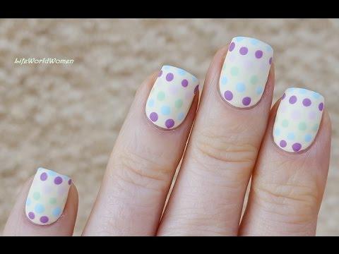 matte nails #2 - pastel dotticure
