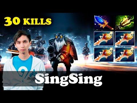 SingSing Sniper 4 Rapiers+Aghanim OWNAGE Dota 2