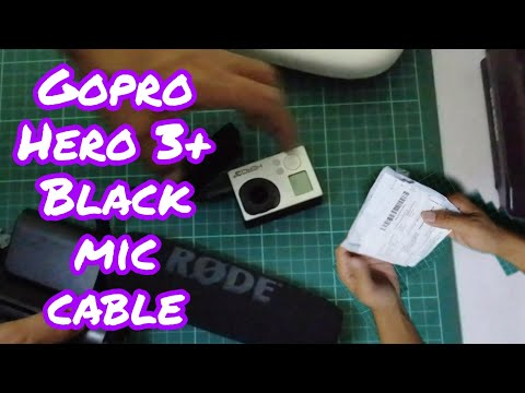 Unboxing Mic Cable Gopro Hero 3+ Black Edition
