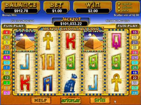 Jackpot Cleopatra's Gold Slot At Cherry Red Casino