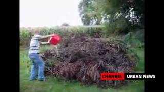 FAIL: Idiot Uses Gasoline To Burn Some Branches In His Backyard! thumbnail