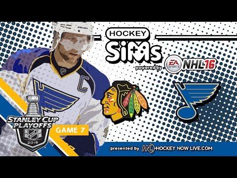 Blackhawks vs Blues: Game 7 (NHL 16 Hockey Sims)