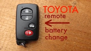 How to ● Toyota Key Fob Remote Keyless Battery Change/Replace