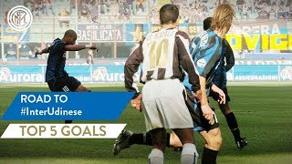 INTER vs UDINESE | TOP 5 GOALS | Adriano, Solari, Stankovic and more...! | Road To