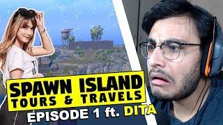 TAKING DITA TO SPAWN ISLAND | PUBG MOBILE HIGHLIGHTS | RAWKNEE