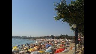 Созополь новый город. Цены на зонтики и шезлонги на пляжах. Болгария