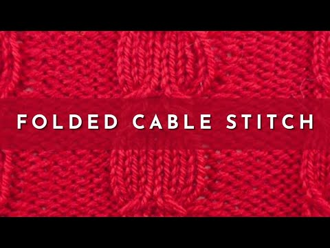 yarn over (fannishknits: How to Knit the Folded Cable Stitch)
