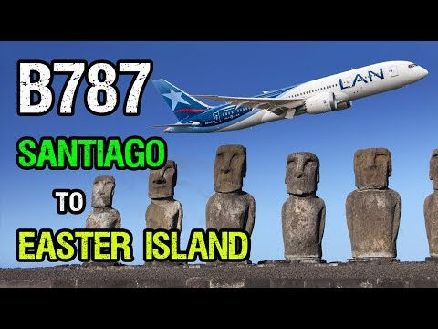 LA841 Boeing 787 Santiago (SCL) to Easter Island (IPC)