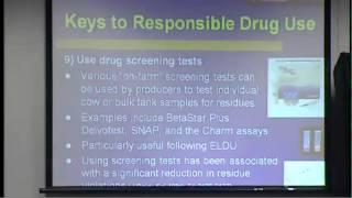 "Seminar - ""Avoiding Drug Residues in the Dairy Industry"""