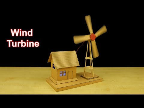 How to Make Working Model of a Wind Turbine from Cardboard - School Project