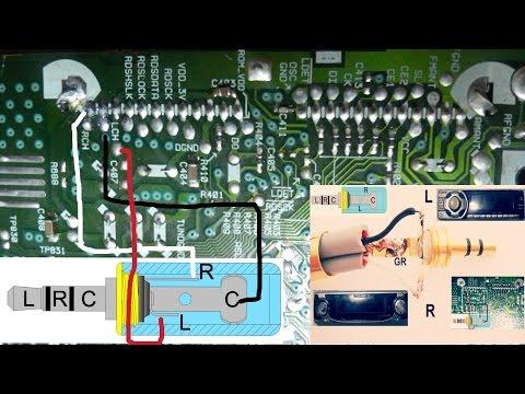 entrada auxiliar para un auto estéreo antiguo / reciclar un auto estereo