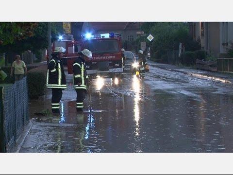 Unwetter und Chlorgas: Viel zu tun für Feuerwehren bei Wolfhagen