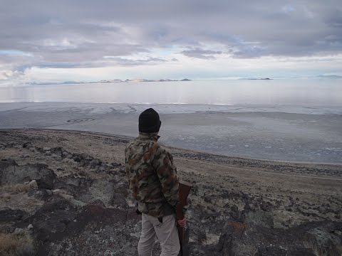 Camping and hunting on the shores of the Great Salt Lake near the Spiral Jetty!