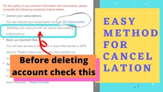 How to cancel subscription of WPS OFFICE ?   Cancel AUTO-RENEW SUBSCRIPTION NOTIFICATION - WPS Offc screenshot 4