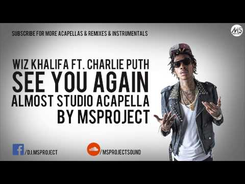 Wiz Khalifa - See You Again (Official Acapella - Vocals Only) ft. Charlie Puth + DL