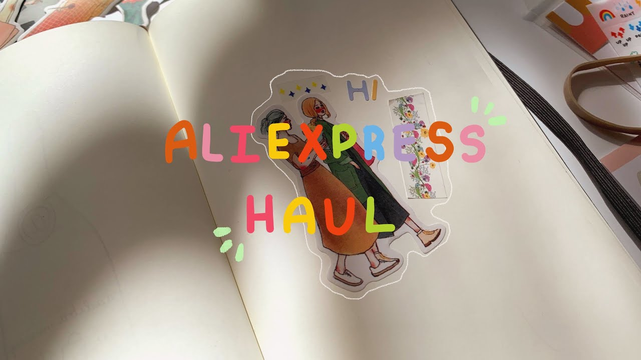 ALIEXPRESS HAUL// sitting at home shopping for stationery