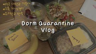 [vlog]미국기숙사에서 자가격리 | 세계3대 요리학교…
