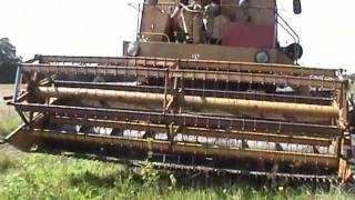 Śliczne koszenie. Rozruch Bizona. Żniwa 2011. Kombajn Super Bizon Z056 za 71zł i 90gr