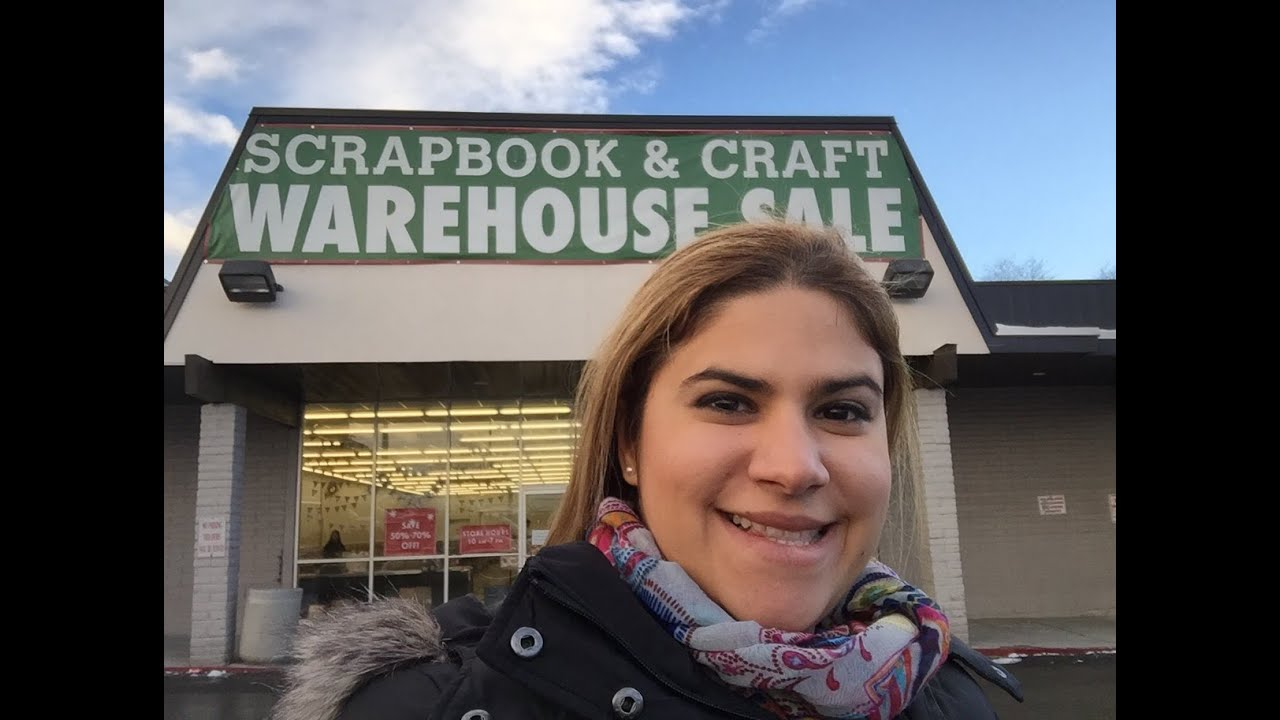 scrapbook haul video 14  american crafts warehouse sale