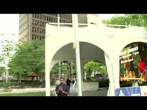 'Clinton Conversation' webcast from Campus Martius Park in Detroit