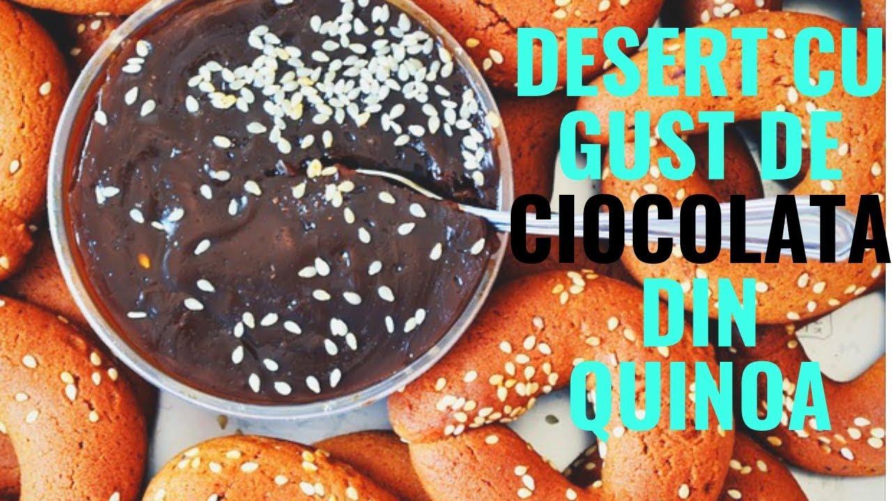 Desert sanatos cu gust de ciocolata pe baza de quinoa