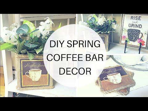 DIY SPRING COFFEE BAR DECOR   $10 SPRING DECOR CHALLENGE COLLAB