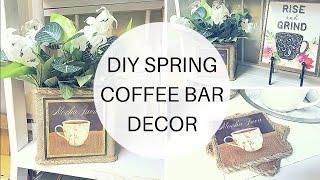 DIY SPRING COFFEE BAR DECOR | $10 SPRING DECOR CHALLENGE COLLAB