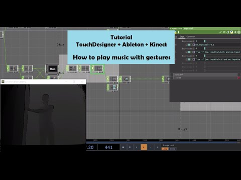 Tutorial - TouchDesigner + Ableton + Kinect - How to play music with gestures thumbnail