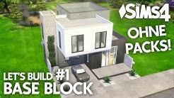 Die Sims 4 Haus bauen ohne Packs | Base Block #1: Grundriss (deutsch)