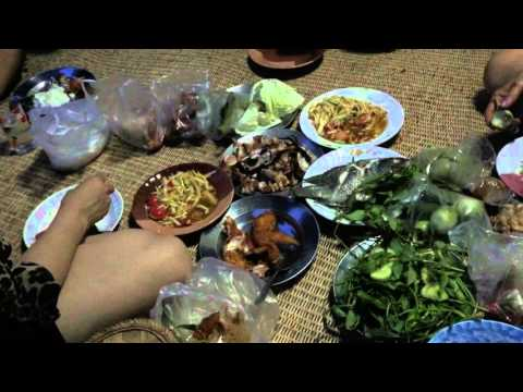 family dinner in roi-et  issan/thailand