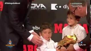 MESSI recoge su SEXTA BOTA de ORO... con SHOW de su hijo MATEO