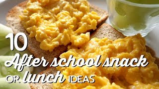 10 After School Snack or Lunch Ideas | A Thousand Words