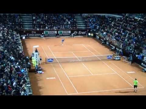 Nadal VS Murray Roma 2014 match-point.. NOI C'ERAVAMO !!!!