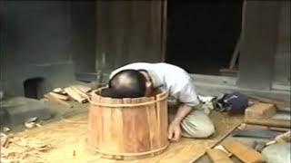 Akita Cedar Sake Pail & Barrel Master Craftsman: Mr. Masamura