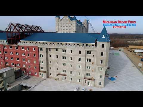 Grand Castle Apartments drone sneak preview dec 2017 - Michigan Drone Pros Photography