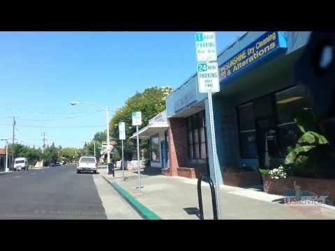 Города США: типичные американские провинции. Santa Clara из окна машины