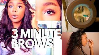 Ariana Grande 7 Rings eyebrow DRUGSTORE makeup TUTORIAL for straight brows| JAMIN ANDERSON