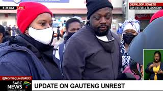 [WARNING: STRONG LANGUAGE] SA Unrest I Workers in looted mall in Diepkloof left without income