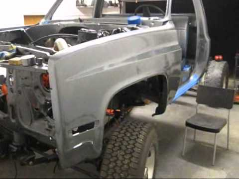 Cummins Chevy  Front fenders painted And Fender alignment