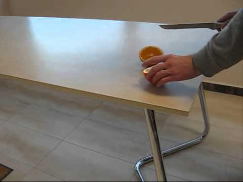 mesas de cocina con encimera porcelnicas techlam