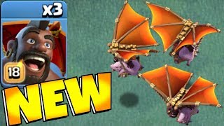 "NEW!! Hog Glider MAX lvl 18!! ""Clash Of Clans"" Gem to MAX!"