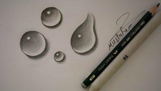 تعلم رسم قطرات الماء بالرصاص