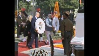 PM Narendra Modi & PM Benjamin Netanyahu visits Teen Murti Memorial   PMO