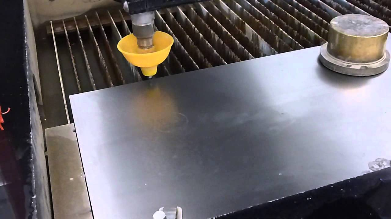 [No Sound] Introduction On How To Use The Waterjet Cutter
